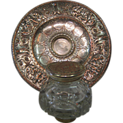 Silver-plate over copper inkwell (Elkington & Co.)