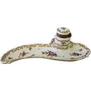 Ladies Porcelain Inkwell, early 1900's