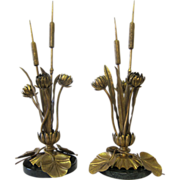 Art Nouveau Botanical table lamps