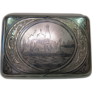 Late 19th century Russian Sterling Cigarette Case.