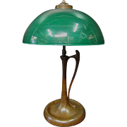 Vintage Emeralite Table Lamp