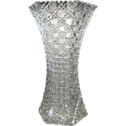 American Brilliant Cut Vase