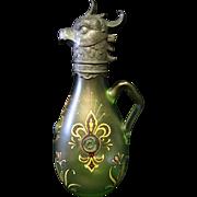 Rare Moser Figural Wine Carafe
