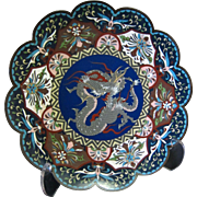 Vintage Cloisonné Chinese Charger