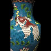 Vintage Chinese Enamel/Cloisonne' Vase