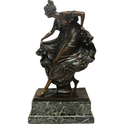 Vintage Bronze Lady