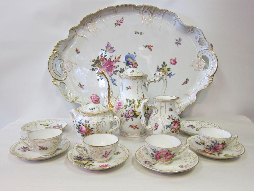 Czechoslovakian porcelain tea service