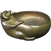 Art Deco Bronze Figural Animal Candy Dish