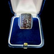 Man's 14K Gold & Carnelian Ring