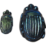 Vintage, Original Tiffany Studios Glass Scarabs (2)