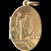 Vintage, Antique 14K Gold Victorian Locket