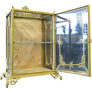 Vintage Miniature French Curio Cabinet