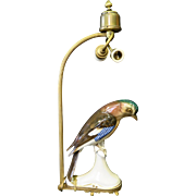Vintage German Porcelain Bird Lamp