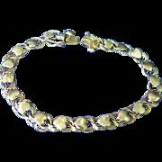 "Vintage 1950's 14K gold woman's ""heart"" bracelet"
