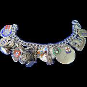 Vintage 1950's Silver Charm Bracelet
