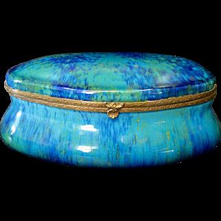 Vintage Mid 20th Century Sevres Porcelain Trinket Box