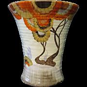 """Vintage Clarice Cliff """"Bizarre"""" (Rhodanthe) tall Vase"""
