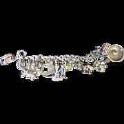 Vintage 1960's Sterling Silver Charm Bracelet