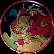 Gouda Art Pottery Charger, Art Nouveau Period