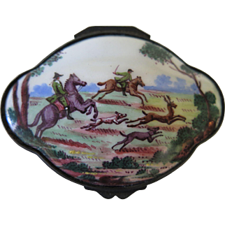 """Battersea"" Enamel Snuff Box"