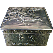 Vintage 19th Century Continental Sterling Silver Trinket Box