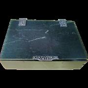 Vintage French Inspired Jade Cigarette Box