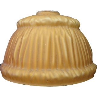 Vintage 1920's Amber Color Cased Glass Lamp Shade