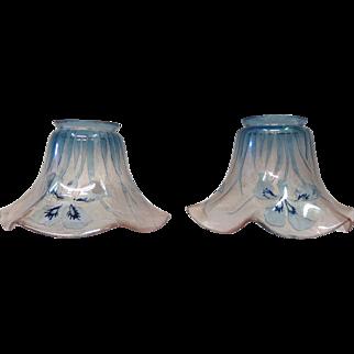 Pair of Val St. Lambert Art Glass Shades