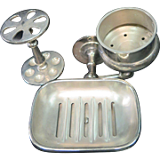 "Contemporary ""Victorian"" Nickel Plated Bathroom Accessory"