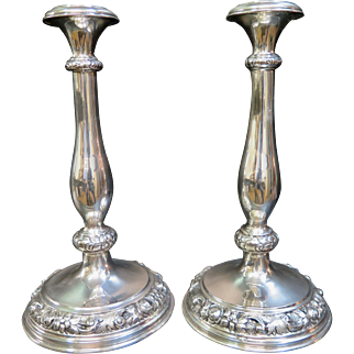 Vintage Continental (French) Silver Candlesticks