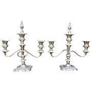 Vintage  Silver Plate Decorative Table Candelabras