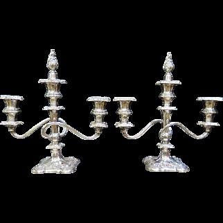 Vintage Sterling Silver Decorative Table Candelabras