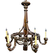 Late 19th Century Black Forest Ceiling Fixture