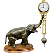 Vintage Figural (Elephant) Swinging Arm Clock