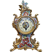 Vintage  French Champleve' Clock