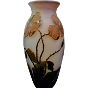 Early 20th Century French Cameo Art Glass Vase by Arsall