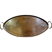 Vintage Signed Roycroft Bronze Tray