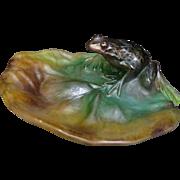 Vintage Daum Glass Frog sculpture