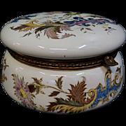 Vintage Longwy Porcelain Vanity Box