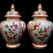 Vinage 19th Century French Covered Porcelain Jars, pr. signed