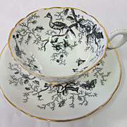 "Coalport ""Cairo"" pattern bone china cup & saucer"