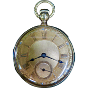 "Vintage 18K Gold Elgin ""Veritas"" Pocket Watch"