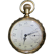 Vintage 14K Gold Waltham Open Face Pocket Watch