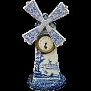 Vintage European Earthenware Clock, signed GH