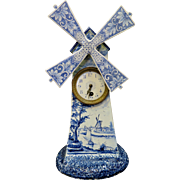 Vintage European Earthenware Clock, signed GH