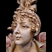 Vintage Late 19th Century Teplitz Bust