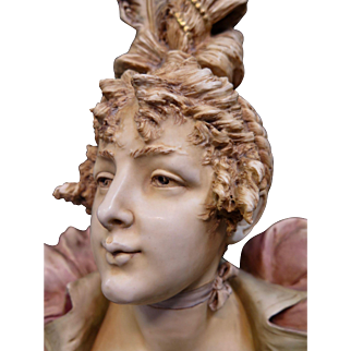 Vintage Late 19th Century Teplitz Bust