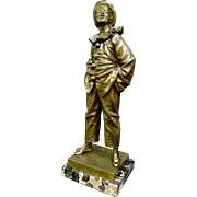 "Bronze ""Pierrot"" signed Bouret"