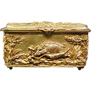 Vintage Victorian Dore' Bronze Trinket Box