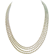 Beautiful Vintage Muklti-strand 14K Gold Rope Choker Necklace